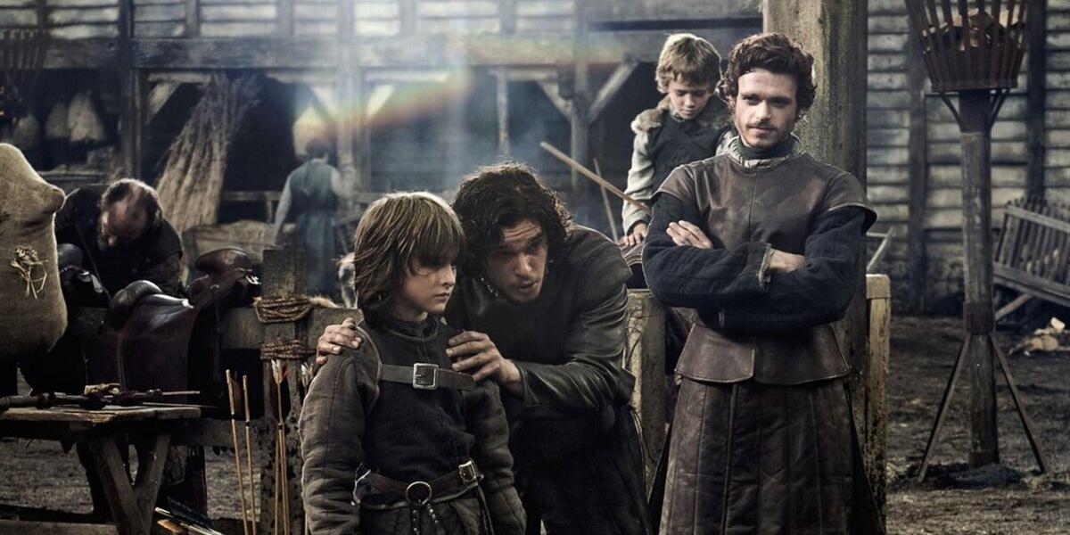Game of Thrones Bran Stark Isaac Hempstead-Wright Jon Snow Kit Harington Rickon Stark Art Parkinson Robb Stark Richard Madden HBO