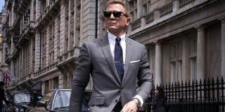 No Time To Die Daniel Craig sharply dressed on a walk