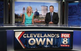 Tracy McCool (l.) and Lou Maglio deliver the news at Cleveland market leader WJW.