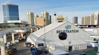 CES 2020 Registration Tent