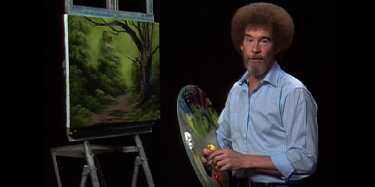Bob Ross on The Joy of Painting