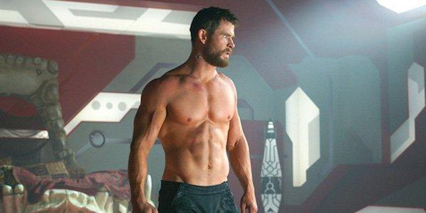 Thor's body in Ragnarok