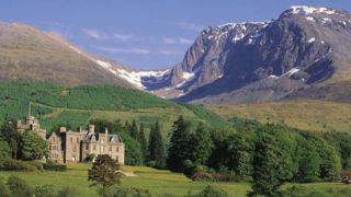 Ben Nevis is the tallest mountain in the UK, with a summit of 4,418 feet (1,347 meters).