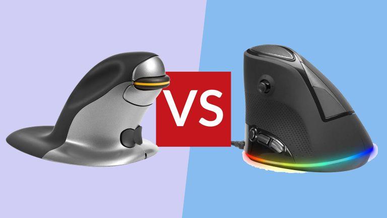 Posturite Penguin Ambidextrous Wireless Ergonomic Mouse vs Speedlink Sovos