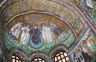 Mosaics from San Vitale's Basilica in Ravenna, Italy.