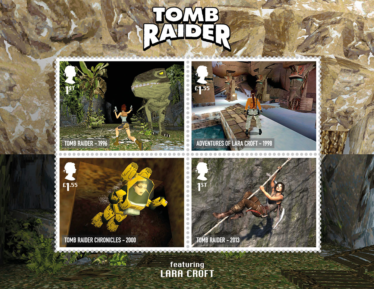 Royal Mail retro gaming stamps: Tomb Raider