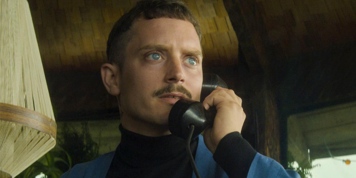 Come To Daddy Elijah Wood takes a phone call