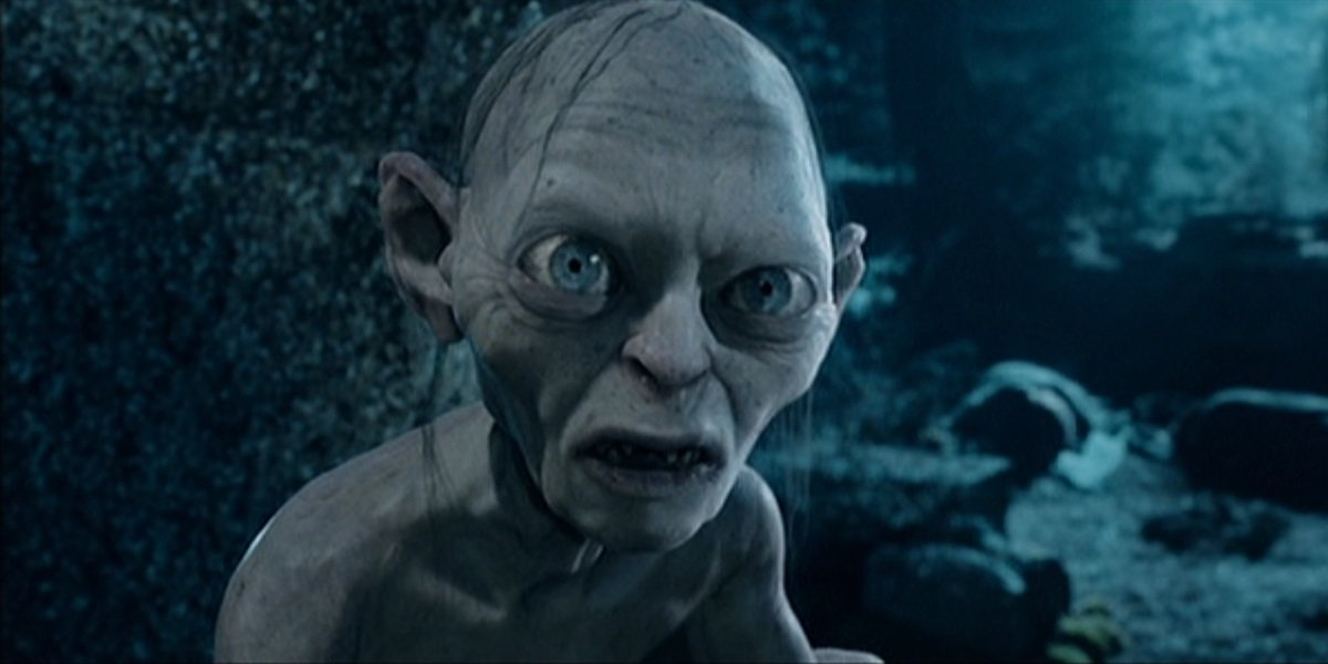 Gollum in Lord of the Rings: The Two Towers