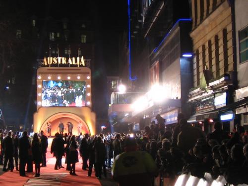 Australia premiere in Leicester Square, London