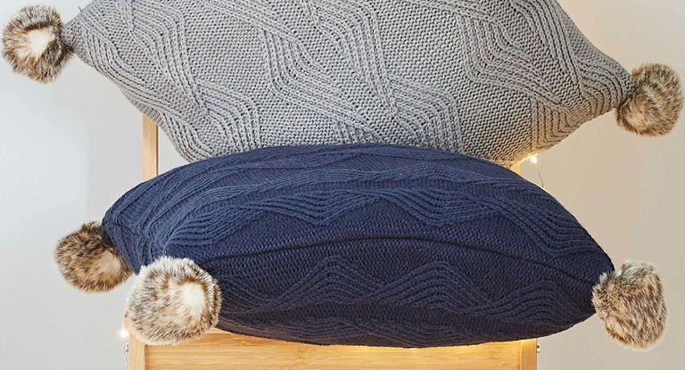 Aldi pompom cushions