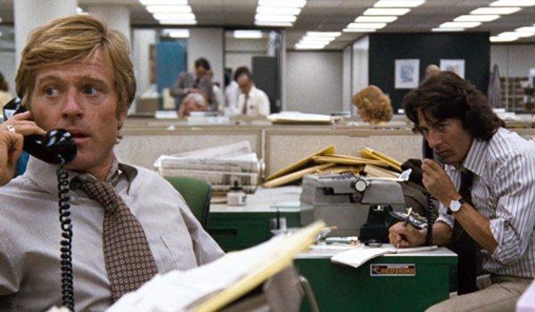 All The President's Men Robert Redford Dustin Hoffman making important phone calls