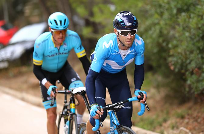 Alejandro Valverde and Jakob Fuglsang in a winning breakaway at Volta a la Comunitat Valenciana