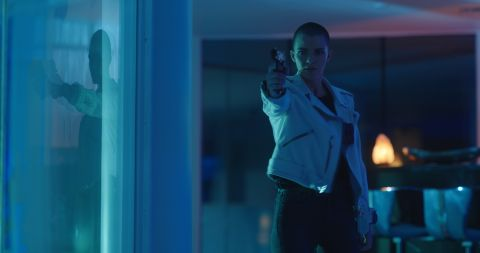 In 'Vanquish,' Ruby Rose plays an ex-convict forced to pick up payments for a ring of corrupt cops after the disabled police officer (Morgan Freeman) she cares for holds her ailing daughter hostage.