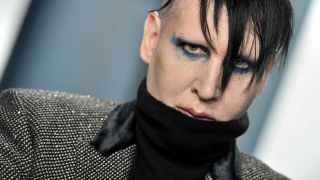 Marilyn Manson at a Vanity Fair party in 2020