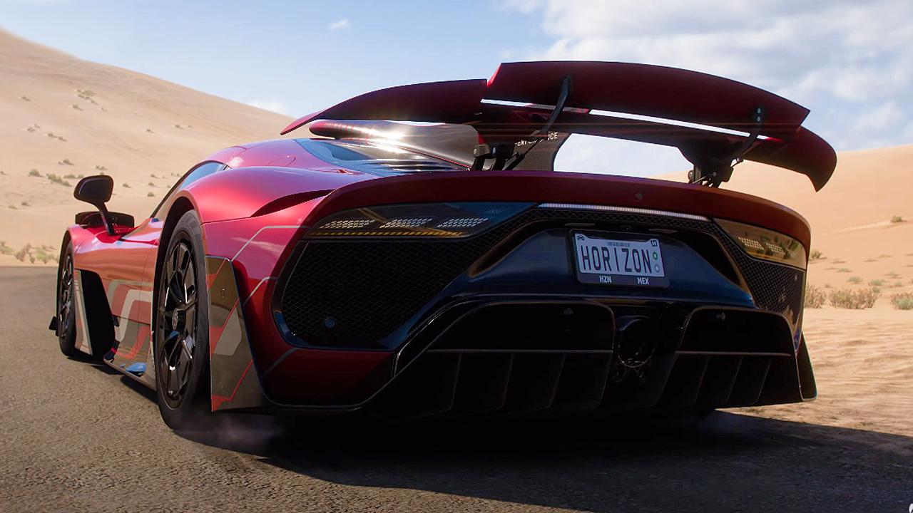 Rearview of a Forza Horizon 5 supercar