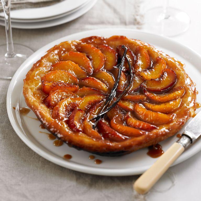 Photo of a peach vanilla tarte tartin recipe