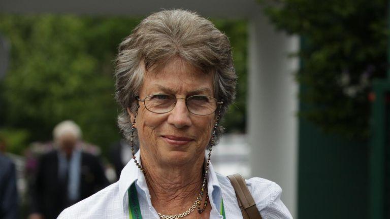 Virginia Wade OBE seen at the Wimbledon Championships 2015