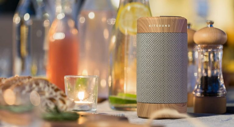 best bluetooth speakers on a dinner table with tealight
