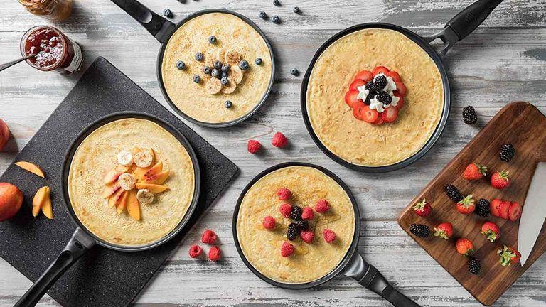 GOURMEX Black Induction Crepe Pan Pancake Maker
