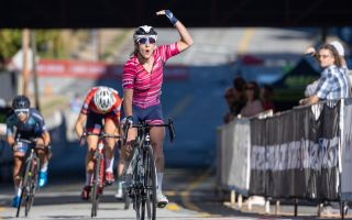 Maggie Coles-Lyster celebrates DNA Pro Cycling sweep at Winston-Salem Cycling Classic