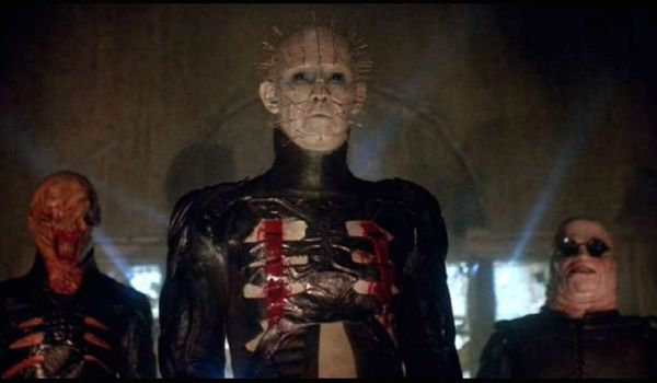 Pinhead and two other cenobites in Hellraiser