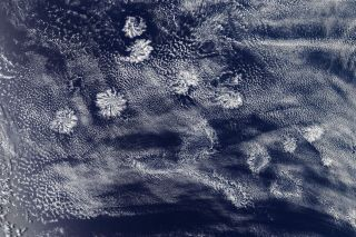 An instrument on NASA's Aqua satellite captured this image of actinoform clouds form near Australia on Jan.29..