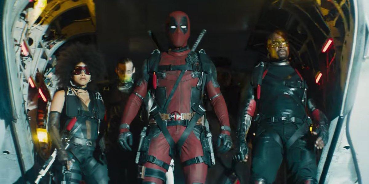 Deadpool with X-Force in Deadpool 2