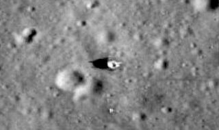 Apollo 11 Lunar Reconnaissance Orbiter Camera Image of Deployed Flag
