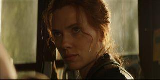 Natasha Romanoff (Scarlett Johansson) looks forward in Black Widow (2021)