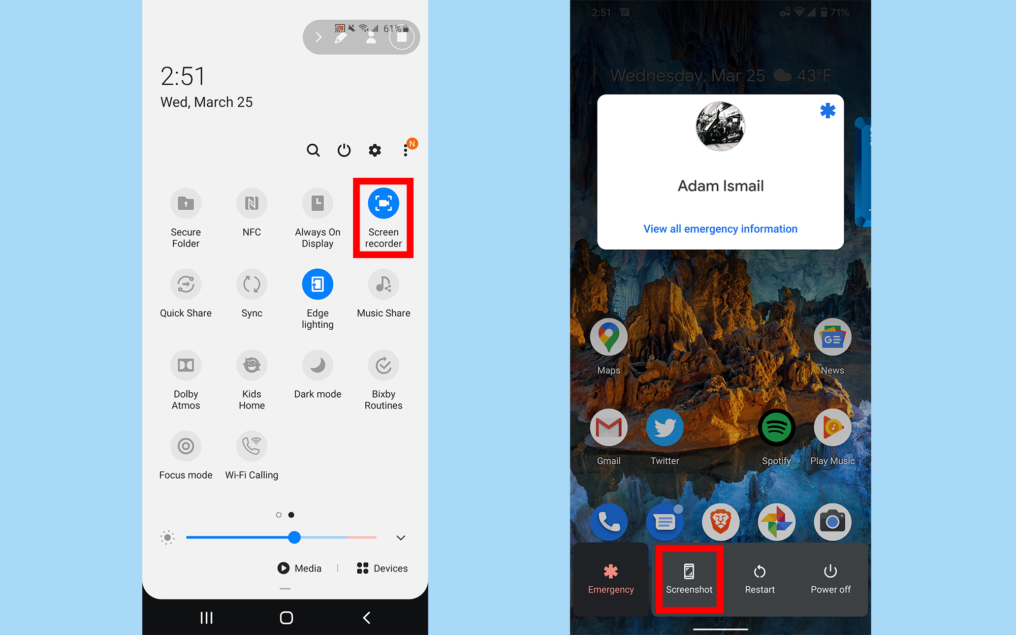 how to record on android screen