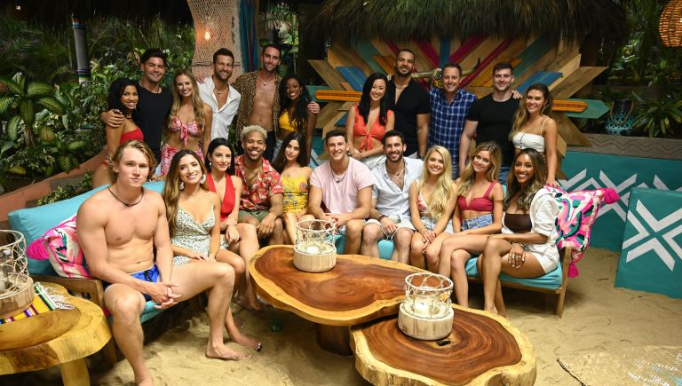 """Bachelor in Paradise 2021 cast, In the premiere episode of what promises to be another wild ride of """"Bachelor in Paradise,"""" our favorite members of Bachelor Nation begin their journey for another chance at finding love at a luxurious Mexico resort, airing MONDAY, AUG. 5 (8:00-10:01 p.m. EDT), on ABC. (John Fleenor/ABC via Getty Images) FRONT ROW: JOHN PAUL JONES, NICOLE LOPEZ-ALVAR, BIBIANA JULIAN, WILLS REID, JANE AVERBUKH, BLAKE HORSTMANN, DEREK PETH, DEMI BURNETT, HANNAH GODWIN, TAYSHIA ADAMS BACK ROW: KATIE MORTON, DYLAN BARBOUR, ANNALIESE PUCCINI, CHRIS BUKOWSKI, CAM AYALA, ONYEKA EHIE, SYDNEY LOTUACO, CLAY HARBOR, CHRIS HARRISON, KEVIN FORTENBERRY, CAELYNN MILLER-KEYES"""