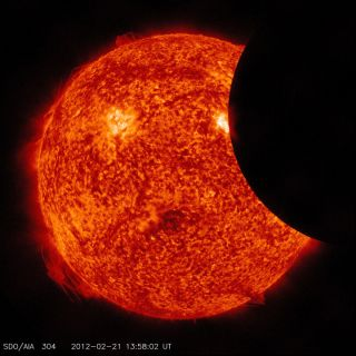 Feb 2012 partial solar eclipse