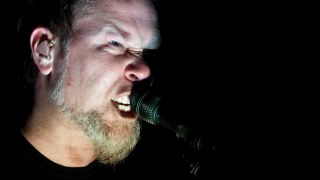 James Hetfield at the O2 Arena, London. on March 28, 2009