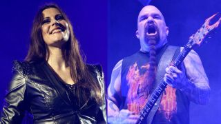 A picture of Floor Jansen and Slayer's Kerry King