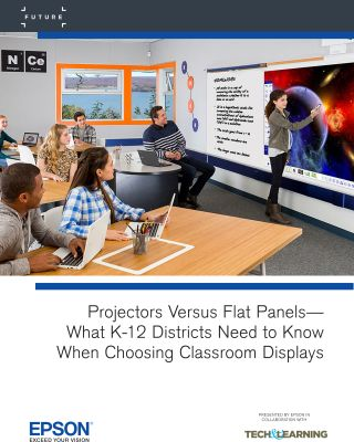 Projectors VS. Flat Panels— What K-12 Districts Need To Know When Choosing Classroom Displays