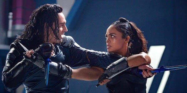 Loki and Valkyrie fighting in Ragnarok