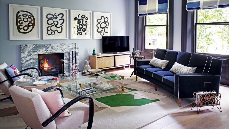 Blue Living Room Ideas Decorate With Light And Dark Blues Homes Gardens