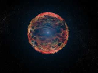 Artist's Illustration of Supernova Explosion
