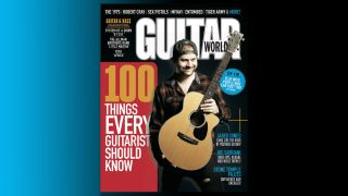Jared Dines on the cover of Guitar World magazine