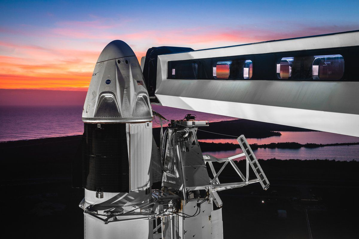 NASA and SpaceX Discuss Launch Plans for 1st Crew Dragon Spaceship Today