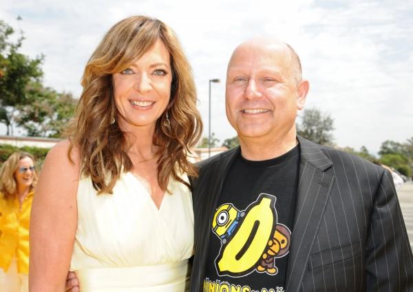Allison Janney and producer Chris Meledandri