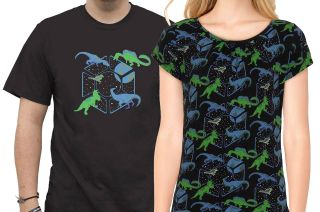 """Former astronaut Karen Nyberg's """"Dinos in Space"""" collection was inspired by her son's love of dinosaurs and her time in space. The exclusive SvahaUSA clothing line is now available."""