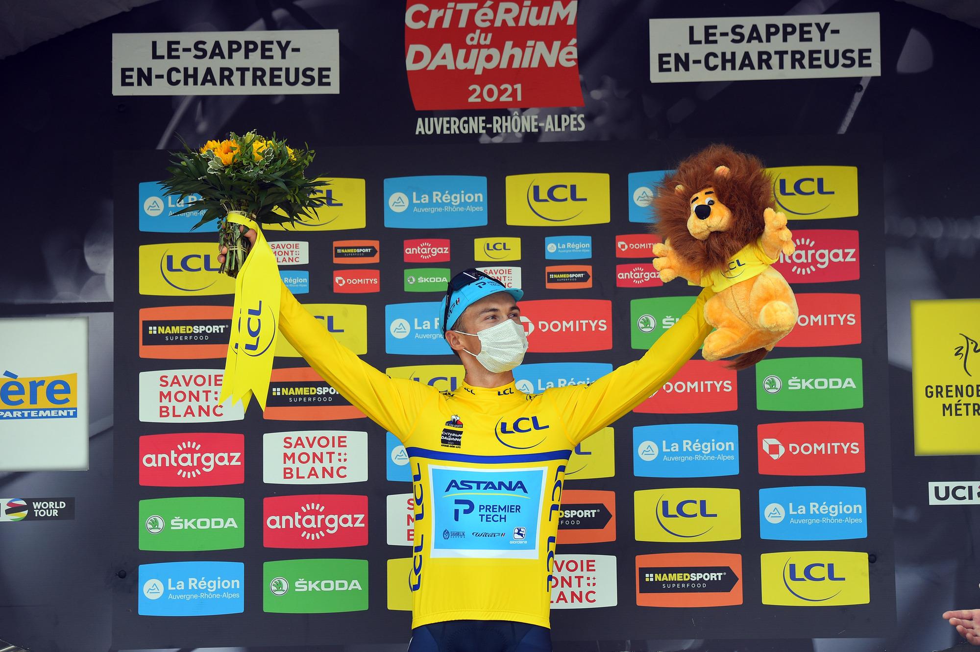 Criterium du Dauphine 2021 - 73rd Edition - 6th stage Loriol-sur-Drome - Le Sappey-en-Chartreuse 167.2 km - 04/06/2021 - Alexey Lutsenko (KAZ - Astana - Premier Tech) - photo Dario Belingheri/BettiniPhoto©2021