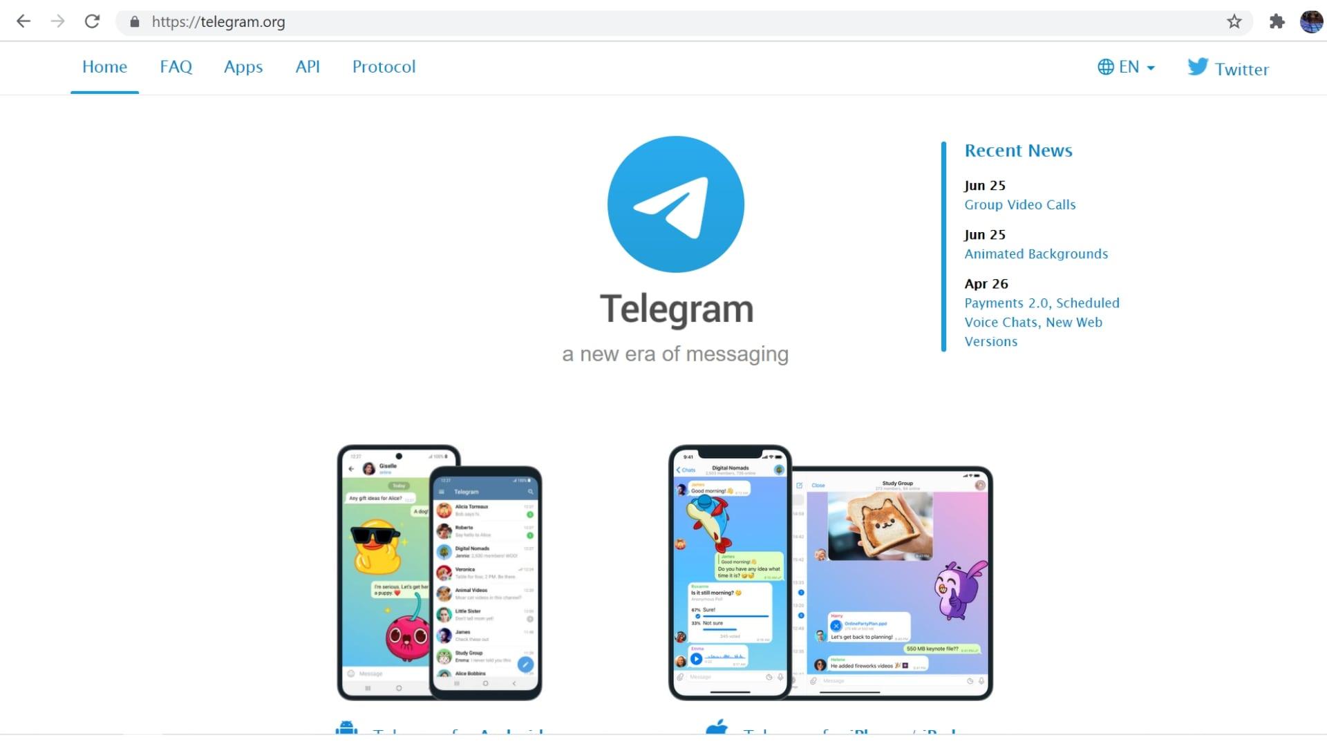 Telegram Website