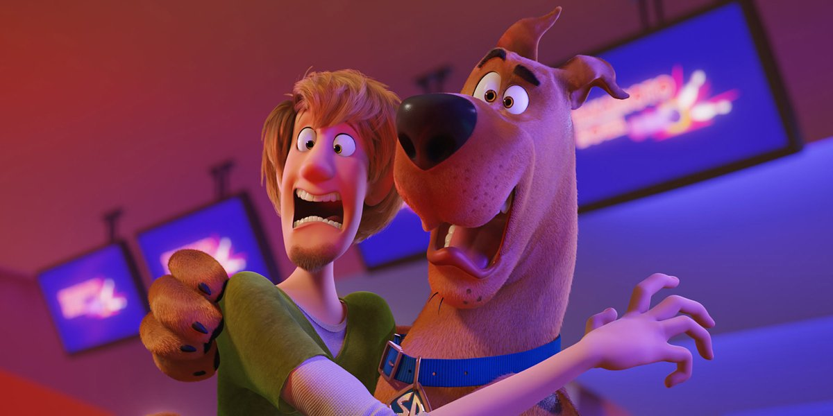 Shaggy (Will Forte) and Scooby-Doo (Frank Welker) Screaming in Scoob