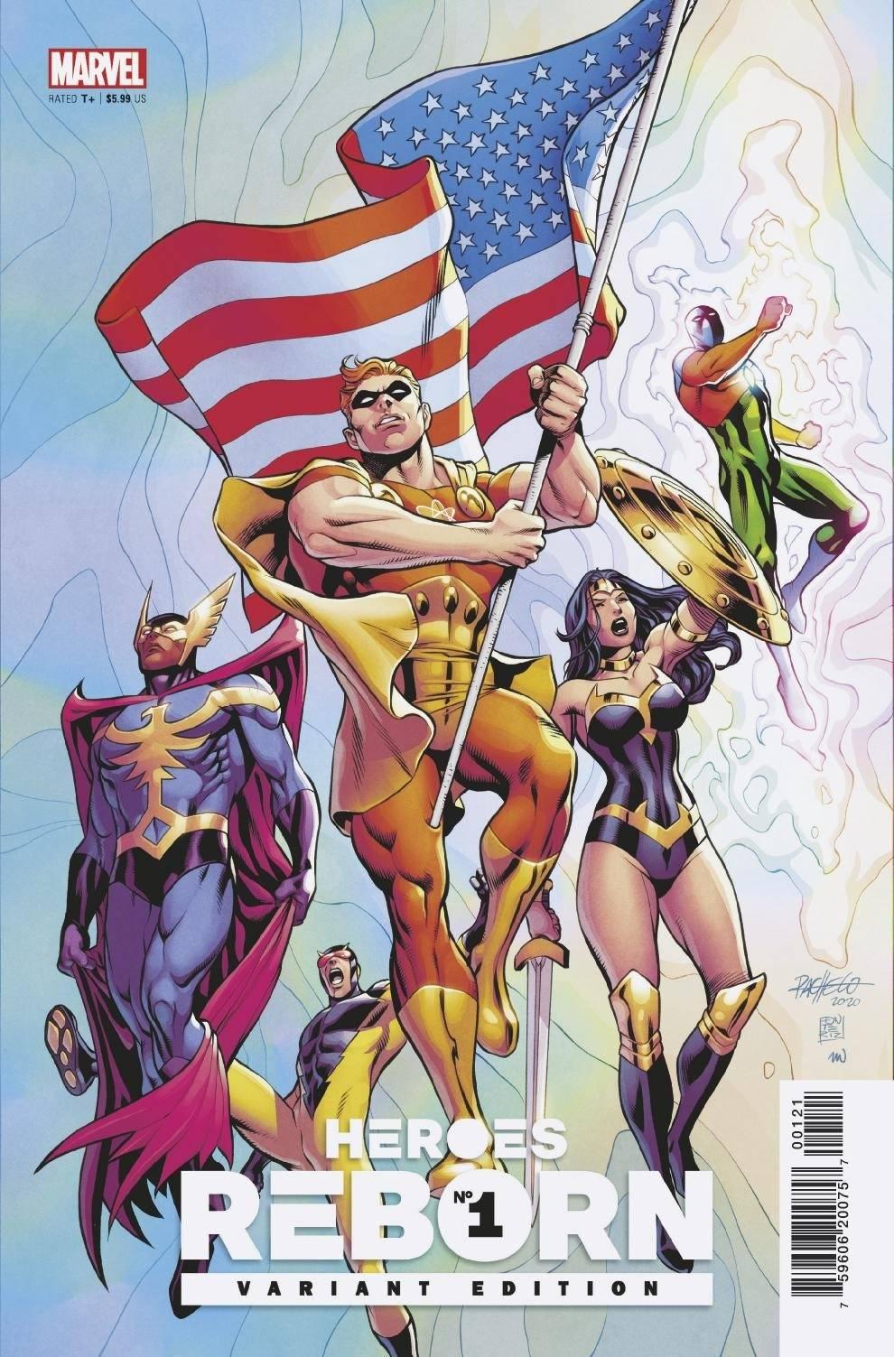 Portada variante de Heroes Reborn # 1