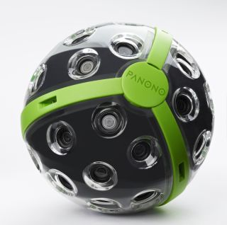 The Panono camera, seen at CES 2016, creates 360-degree images in a single shot.