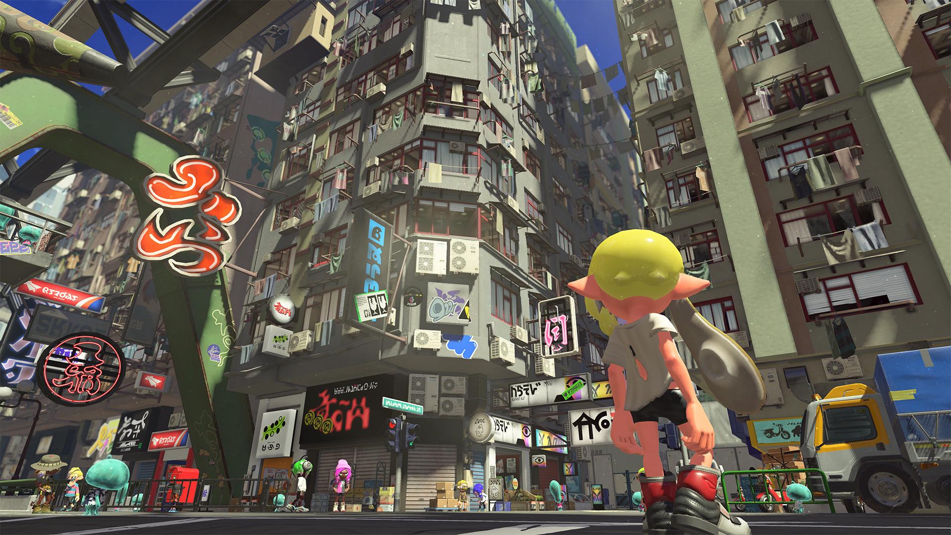 Splatoon 3 hub city