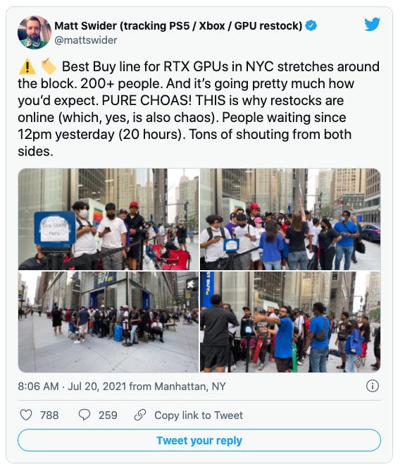 Best Buy lines in New York City