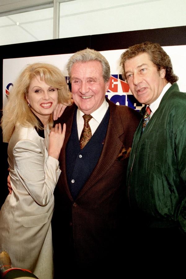 Joanna LUmley, Patrick Macnee and Gareth Hunt